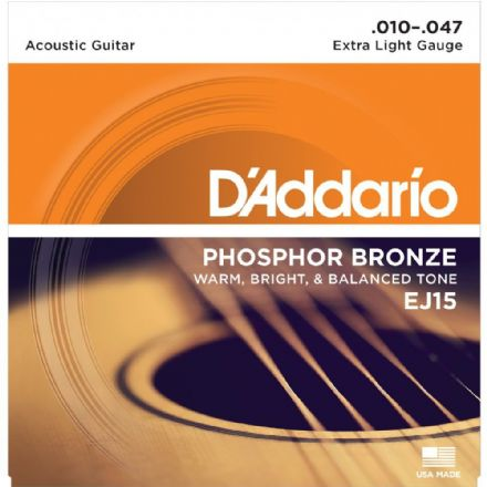 D'addario EJ15 Phosphor Bronze 10-47 Acoustic Guitar Strings